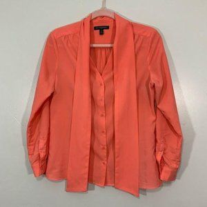 Banana Republic Pink V-Neck Button Front Blouse